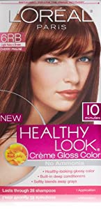 L'Oreal Healthy Look Creme Gloss Hair Color, 6RB Dark Red Brown/Cherry Chocolate