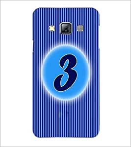 PrintDhaba Numerology Number 3 D-2558 Back Case Cover for SAMSUNG GALAXY A3 (Multi-Coloured)