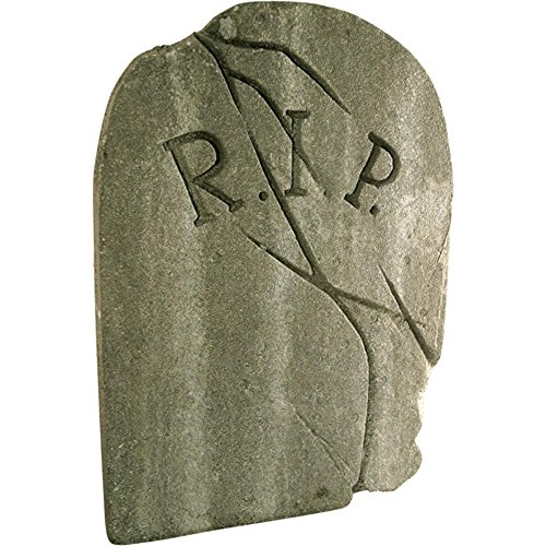 Weathered RIP Halloween Tombstone Prop