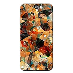 ABSTRACT DESIGN BACK COVER FOR HTC A9