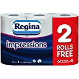 60 Rolls Of Regina Impressions 3 Ply Toilet Roll Tissue Paper Wholesale Job Lot