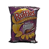 Ruffles - potato chips, corrugated ham flavor