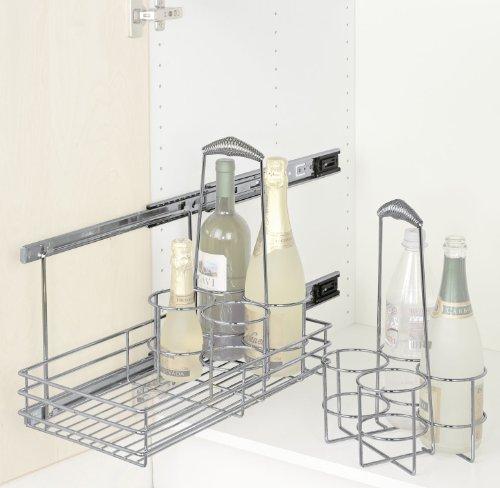 Wenko 5940100 schrankauszug bottle ausziehbare for Ausziehbarer küchenschrank