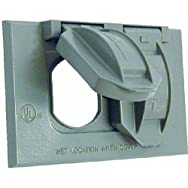 Hubbell5942-1Do it Weatherproof Electrical Cover-GRAY OUTDOR OUTLET COVER