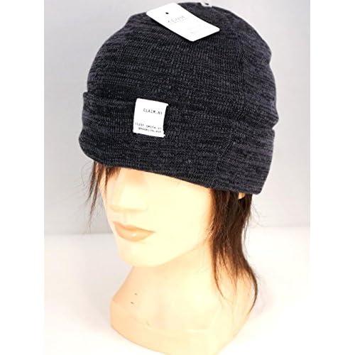 ニット帽 ワッチ 帽子 プレーンワッチ ユニセックス E261205-02 グレーXブラック F