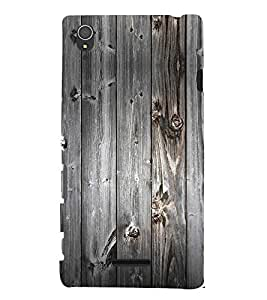 Rustic Wood 3D Hard Polycarbonate Designer Back Case Cover for Sony Xperia T3