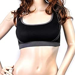Imported Womens Padded Racer Back Bra Top Yoga Fitness Sport Vest Black S