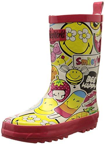Be OnlySmiley Sweet - Stivali da pioggia a metà polpaccio Unisex - Bambini , Multicolore (Multicolore (Multico)), 32