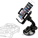 Etekcity 360° Universal Car Mount Holder - Auto-Smart Windshield Cradle for Smartphone iPhone 6/Plus/5/4S/4 Samsung Galaxy S6/S6 Edge/S5/S4/S3 Note 4/3 HTC One Google Nexus 5/4 LG G3 (Black)