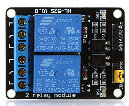 Amaranteen - 5V Active Low 2 Channel Relay Module Board For Arduino Pic