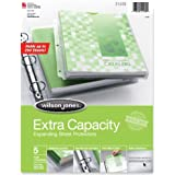 Wilson Jones Extra Capacity Top-Loading Sheet Protectors, 250 Sheet Capacity, Letter Size, 5 Sleeves per Pack, Clear (W21438)