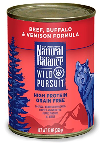 Natural Balance Wild Pursuit Beef Buffalo and Canned Dog Food, 13-Ounce, Set of 12 (Natural Balance Canned compare prices)