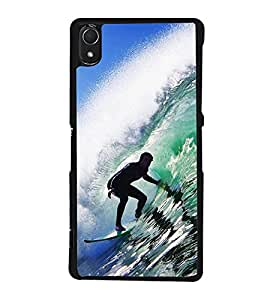Water Surfing Back Case Cover for SONY XPERIA Z3