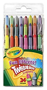 Crayola 24ct Mini Twistable Special Effects Crayons