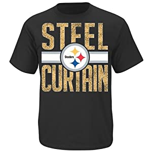 Pittsburgh Steelers Fantasy Leader II Black T Shirt by VF from Majestic
