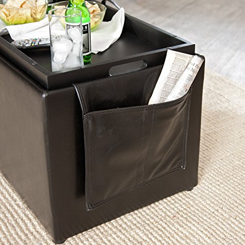 Hartley Coffee Table Storage Ottoman With Tray