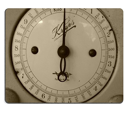 Luxlady Mousepad Horizontal Kitchen Scale Antique Natural Rubber Material Image 477489 (Old Kitchen Scale compare prices)