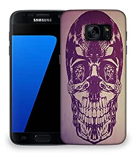 Snoogg Skull With Diamond Eyes Designer Protective Phone Back Case Cover For Samsung Galaxy S7