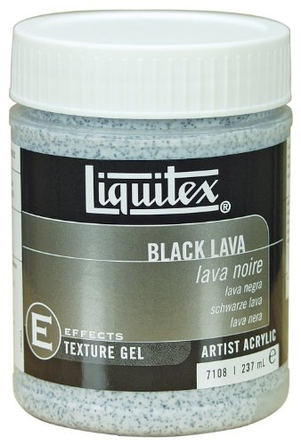 Liquitex Professional Black Lava Effects Medium, 8-Oz