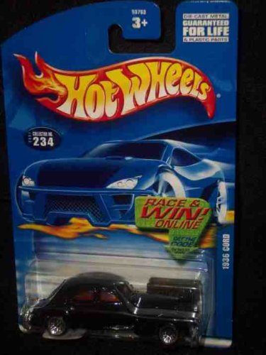 #2001-234 1936 Cord Collectible Collector Car Mattel Hot Wheels 1:64 Scale - 1