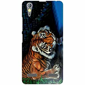 Lenovo A6000 Plus - Tiger Matte Finish Phone Cover