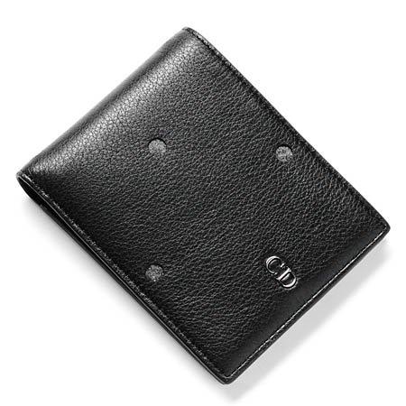 (ディオールオム) Dior HOMME 2つ折り財布 LEATHER GREY×BLACK [並行輸入品]