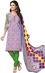 Tripssy Women's Cotton Printed Unstitched Salwar Suit (fb_dm_37, Yellow)