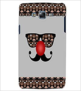PrintDhaba Mustache D-4915 Back Case Cover for SAMSUNG GALAXY ON 7 (Multi-Coloured)
