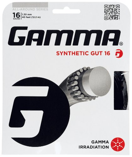 Gamma Synthetic Gut 16G Tennis String, Black