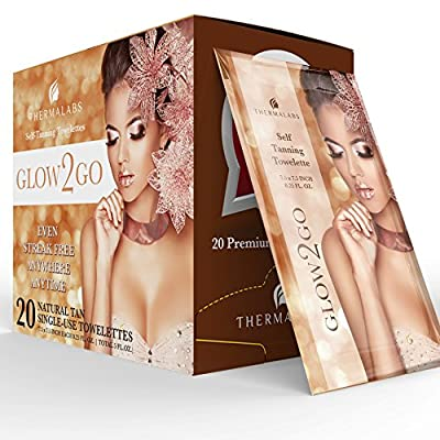 #1 Bestseller 50% Sale! 20 Self Tan Towelettes | Self Tanner Sunless Tanning Half Body Wipes | Application Towels