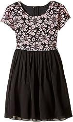 Speechless Little Girls' Puff Floral Lace Dress