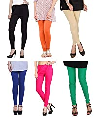Shiva collections B/O/S/RB/P/G cotton legging ( SET OF 6)
