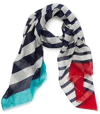 Codello Damen Tuch 41123501, Gestreift, Gr. One size, Blau (navy blue 02 02)