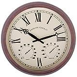 Esschert Design Roman Numerals Plastic Clock, Large