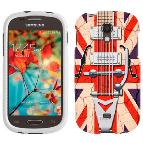 Samsung Galaxy Light Retro Vintage Electric Guitar With Ragged Union Jack Flag Phone Case