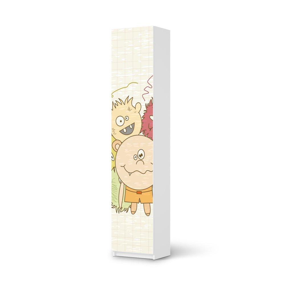 Möbel-Folie IKEA Pax Schrank 236 cm Höhe – 1 Tür / Design Schutz Monsterparty / blasenfrei aufkleben günstig bestellen