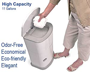 Janibell Akord Adult Diaper Pail - Odor Free - Model M330DA from Janibell