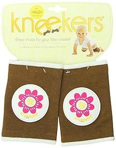 Ah Goo Baby Kneekers KN-PPWR-12(REG) - Rodillera, diseño de flor, color marrón
