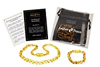 Baltic Amber Teething Necklace + Bracelet for Babies (Unisex) - Anti Flammatory, Drooling & Teething Pain Reduce Properties - Certificated Natural Baltic Amber with the Highest Quality. by BL-amber