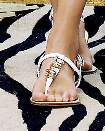 Charm Flat Sandal :  sandal fashion flat leather