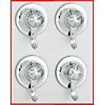 Croydex Everloc 4x small Suction Power Hooks