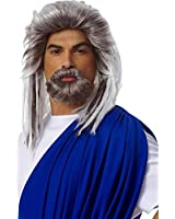 Deluxe Platinum Grey King Of The Sea Wig And Beard Set