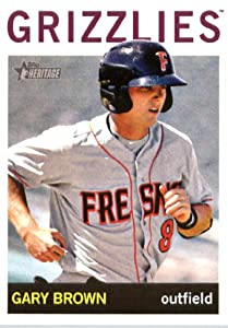 2013 Topps Heritage Minor League Baseball Card # 22 Gary Brown Fresno Grizzlies by Topps