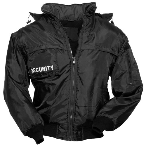 Surplus Tactical Security Vest Mens Hooded Jacket Gilet With Fleece Lining Black