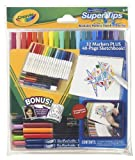 Crayola Supertips Wallet (32 washable markers sketch and colour set with 40 page sketchbook)