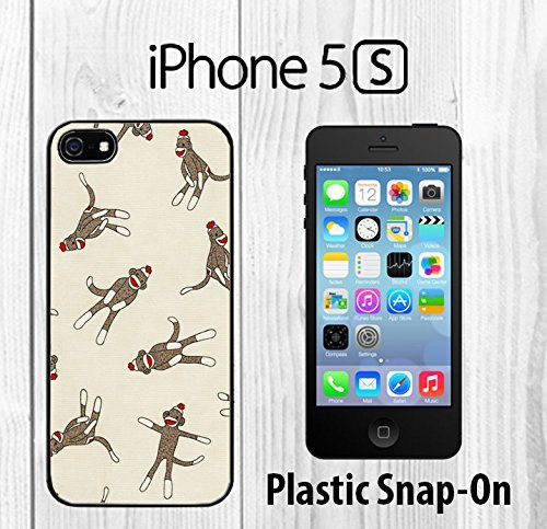 Monkey Sock Pattern Custom made Case/Cover/skin FOR iPhone 5/5s -Black- Plastic Snap On Case ( Ship From CA) at 'Sock Monkeys'