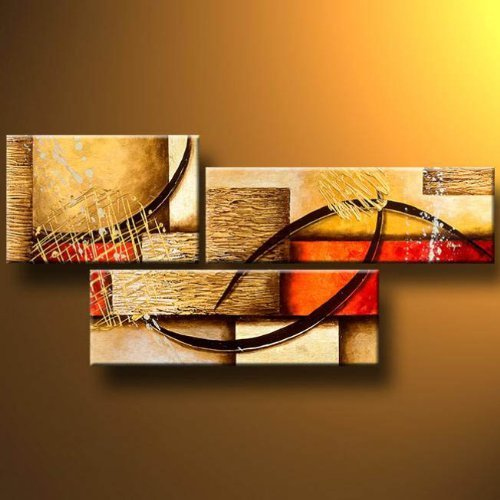 3 Pics Modern Abstract 100% Hand Painted Oil Paintings Artwork on Canvas Wall Art Deco Home Decorations (Art Paintings compare prices)