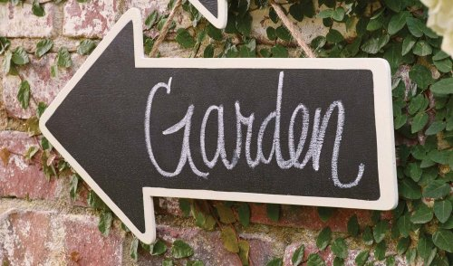 Large Chalkboard Arrow