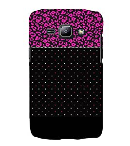 Black Pinkish Dotted 3D Hard Polycarbonate Designer Back Case Cover for Samsung Galaxy J1 :: Samsung Galaxy J1 J100F (2015)