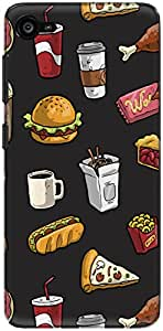 The Racoon Grip Fast Food hard plastic printed back case/cover for Lenovo Z2 Plus